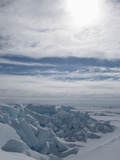 Arctic Ice Landscape with Ice Blocks  Canadian High Arctic  Lancaster Sound  Nunavut  Canada