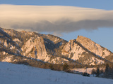 A Cap Cloud over the Colorado Front Range in the Winter at Sunrise