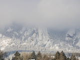 Freezing Fog Lifts over the Colorado Front Range Mountains