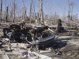 A Neighborhood Destroyed by Hurricane Katrina in Waveland  Mississippi  USA