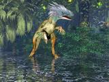 Painting of Utahraptor Dinosaur (Utahraptor Ostrommaysi)