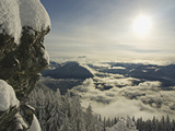 Winter Landscape of New Snow and Diffused Sunshine on the Haystack Summit of Mount Si