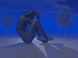 Conceptual Image of Seasonal Affective Disorder (Sad)