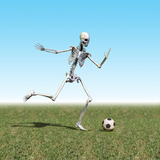 Skeleton Playing Soccer