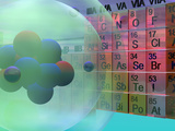 Atom Model with a Periodic Table of the Elements