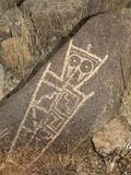 Petroglyph  Three Rivers Site  New Mexico  USA