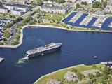 Lake Michigan Car Ferry in Ludington Harbor  USA