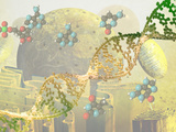 Illustration of DNA and the Cell