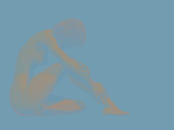 Abstract Nude Adult Human Female Sitting