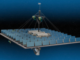 Artist's Concept of an Orbiting Solar Power Station