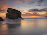 Sea Stack at Sunset at Natural Bridges State Park  Santa Cruz  California  USA