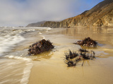 Wave Action and Rocks at Low Tide on a Sandy Beach on Point Reyes National Seashore  California