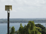 A Tsunami Warning Siren Stands Guard over Hilo Bay in Hawaii
