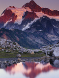 Sunset Alpenglow Reflection in a Tarn  Mount Shuksan  Mount Baker Wilderness  Cascade Range
