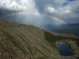 Rainbow  Rocky Mountains  Alpine Lake  Mt Evans Recreation Area  Colorado  USA