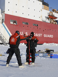 Scientists from the Uscg Icebreaker Healy  Wagb-20  Measuring Ice Thickness