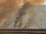 Controlled or Prescribed Burn  Bear River  Utah  USA