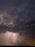 Lightning Illuminates a Small But Intense Thunderstorm Producing Torrential Rain  Hail