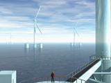 Artist Concept of Deep Water Floating Windmills
