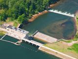 Tippy Dam on the Big Manistee River  Michigan  USA