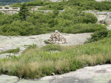 Cairns on Cadillac Mountain Trail  Acadia National Park  Maine