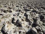 The Devil&#39;s Golf Course Is a Large Salt Pan with Irregular and Rough Surfaces