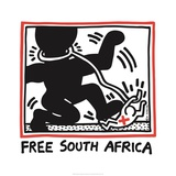 Free South Africa, 1985 Giclée par Keith Haring
