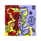 Andy Mouse 1985 Giclée par Keith Haring