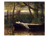 The Lady of Shalott  1862 (Oil on Canvas)