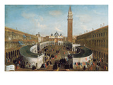 Fair in St Mark&#39;s Square (Oil on Canvas)