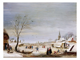 Winter Landscape (Oil on Canvas)