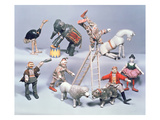 Humpty Dumpty Circus Acrobats and Menagerie C1900 (Wood and Paier Mache)