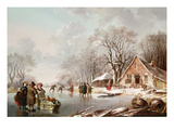 Winter Scene (Oil on Canvas)