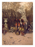 Beating the Retreat in the Tuileries Gardens  1867 (Panel)