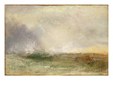 Stormy Sea Breaking on a Shore  1840-5 (Oil on Canvas)