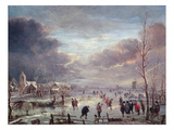 Landscape in Winter (Oil on Canvas)