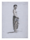 Korah Girl with a Jar  1802 (W/C and Graphite on Paper)