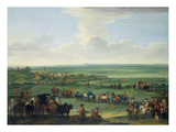 George I (1660-1727) at Newmarket  4th or 5th October 1717  c1717