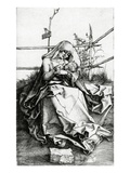 Virgin and Child Seated on a Grass Bench  1503 (Engraving)