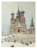 St Basil's Cathedral  Red Square  Moscow  C1917 (Oil on Canvas)