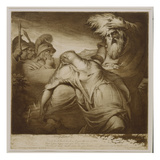 King Lear and Cordelia  1776 (Etching and Aquatint with India Ink)
