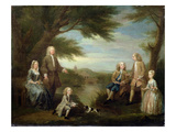 John and Elizabeth Jeffreys and their Children  1730 (Oil on Canvas)