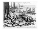 The Happy and Trouble Free Life of the Cripple (Engraving) (B/W Photo)
