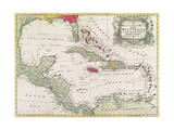 Vintage Map of the West Indies