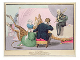 Le Mort'  George IV (1762-1830)  Caricature of the King Grieving the Death of the Giraffe
