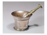 Apothecary's Pestle and Mortar  Early 18th Century (Brass and Copper)