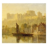 Windsor Castle from the Thames (Oil on Millboard)