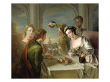 The Sense of Taste  C1744-47 (Oil on Canvas) (See also 129301 and 129303)