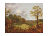 Wooded Landscape with a Cottage  Sheep and a Reclining Shepherd  c1748-50