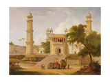 Indian Temple  Said to Be the Mosque of Abo-Ul-Nabi  Muttra  1827 (Oil on Canvas)